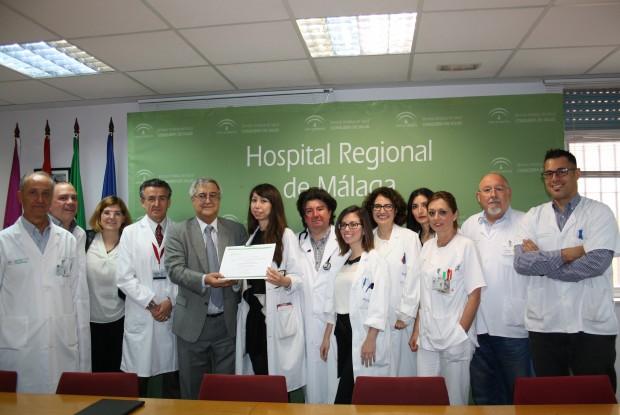 Neurólogos del Hospital Regional de Málaga e IBIMA reciben una ayuda para la investigación en esclerosis múltiple de la Fundación Genzyme